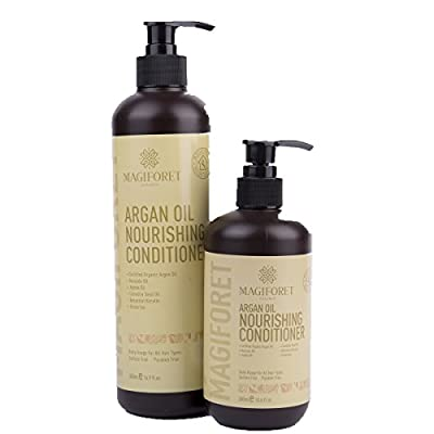 MagiForet Organic Argan Oil Nourishing Deep Conditioner of Color Treated Hair Natural Hair All Hair Types for Men Women and Teens