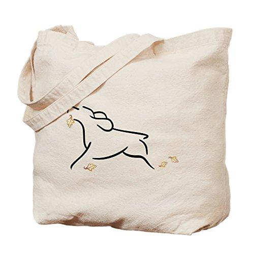 CafePress–Running Spaniel con hojas–Gamuza de bolsa de lona bolsa, bolsa de la compra Medium caqui