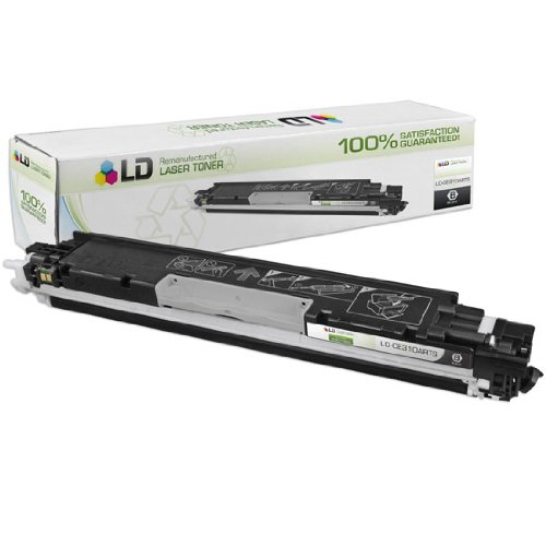 LD © Remanufactured Replacement for Hewlett Packard CE310A (HP 126A) Black Laser Toner Cartridge for use in HP Color LaserJet CP1025nw, TopShot Pro M275, 100 MFP M175a, & 100 MFP M175nw