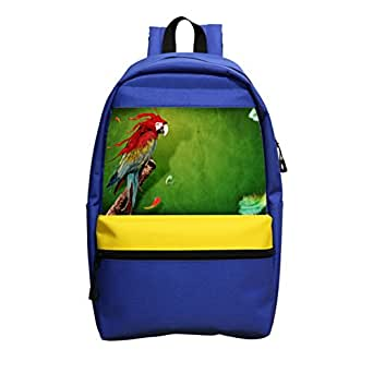 Rainbow Parrot Schoolbag girl boy backpack, designed for children fashion backpack