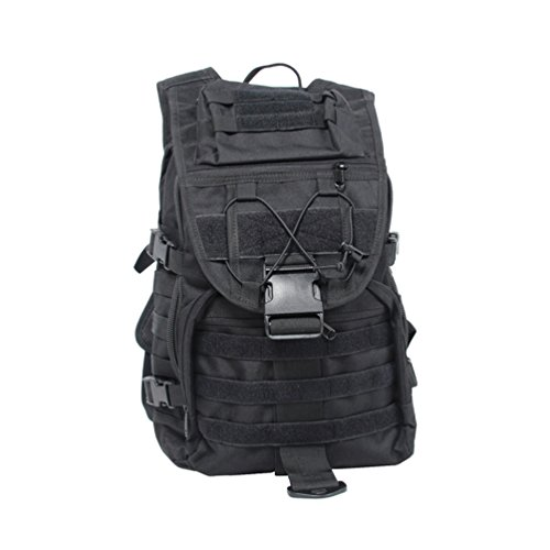 CASTLE ROCK An upgraded version 40L Camping Bags Waterproof Molle System Backpack Military 3P Tad Tactical Backpack Assault Travel Bag for Men Cordura Black