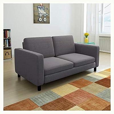 K&A Company Sofa 2-Seater Fabric Dark Gray