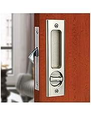 Schuifdeur Slot Insteekslot Handvat Onzichtbaar Verzonken Handvat Klink Meubels Houten deurslot/160 mm-zilver