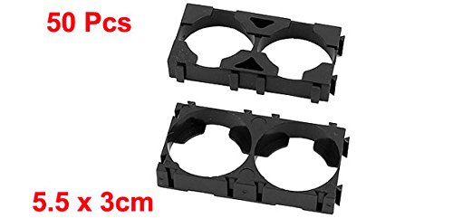 uxcell 50pcs 26650 Lithium Battery Double Holder Bracket for DIY Battery Pack