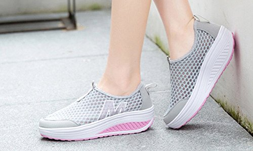 Jiye Holle Outdoor-slip-on Casual Schoenen Voor Dames Mode-gymschoen, Hardloopschoenen Grijs