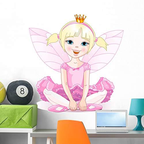 Wallmonkeys Little Fairy Ballerina Wall Mural Peel and Stick Vinyl Graphic (36 in H x 35 in W) WM525752]()
