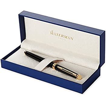 Waterman Hemisphere Essential Black Lacquer Gold Trim Fine Point Fountain Pen - S0920610