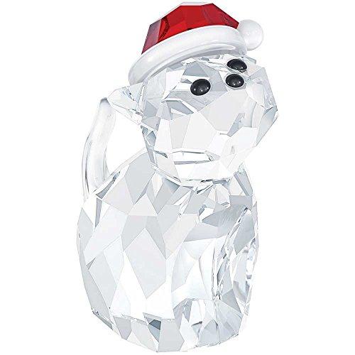 Swarovski 5060448 Cat with Santa s Hat Figurine