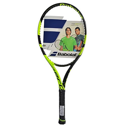 Babolat Pure Aero Yellow/Black Tennis Racquet (4 1/4 Inch Grip) Strung with White String (Rafael Nadal's Racket) Review