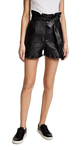 Marissa Webb Women's Tina Leather Shorts, Black, 8 by Marissa Webb
