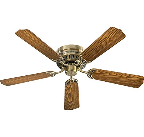 "Quorum International 11525-4 Blade Custom Sers Fan, 52"", Antique Brass"