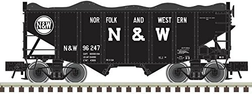 Atlas N 50003695 55-Ton Fishbelly Hoppers, Norfolk and Western (3-Pack) ()