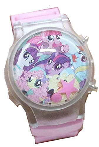 My Little Pony Flip Top Digital Plastic Watch w/Floating Star and Lights