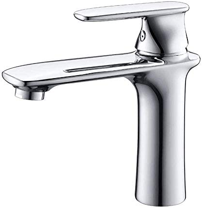 ZY-YY バスルームのシンクは、スロット付き浴室の洗面台のシンクホットコールドタップミキサー流域の真鍮シンクミキサータップ浴室カウンター洗面単穴流域のホットとコールド蛇口バスルームの洗浄表蛇口をタップ