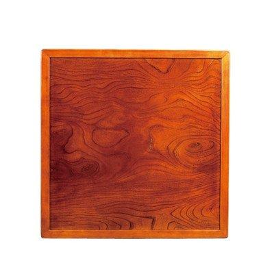 和風こたつ板/こたつ天板 両面仕様 縁付き 天然杢欅(ケヤキ)突板 75角正方形 B01KRAB6AA