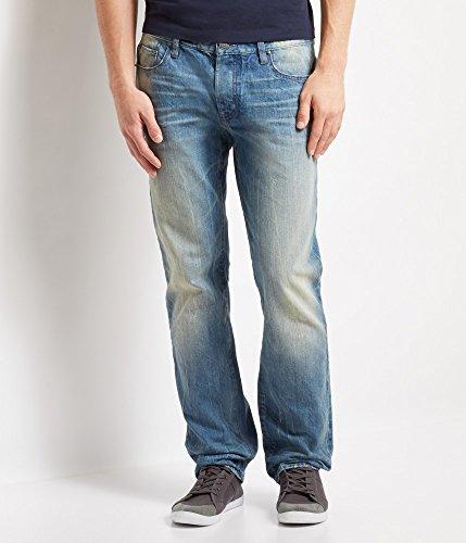 Aeropostale Men's Slim Straight Light Wash Jean 30 Light Wash