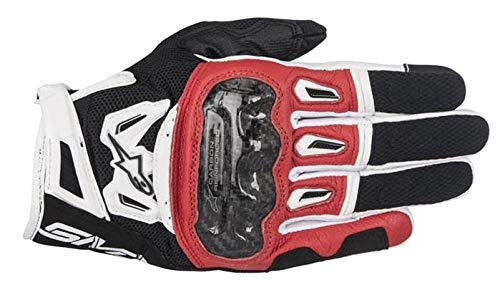 Alpinestars Smx-2 Air Carbon V2 Noir Blanc Gants moto Alpinestars