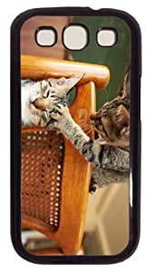 good case funny cats PC Black case/cover for Samsung Galaxy S3 I9300