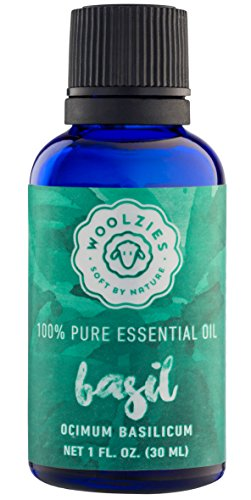 Woolzies 100% pure Basil essential oil, Theraputic grade 1fl oz - Foods Basil Oil