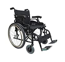 Karman KM8520F22W Aluminum Lightweight Bariatric Manual Wheelchair, Fixed Wheels & Heavy-Duty Front Polyurethane Casters 22W X 18 D Seat & Free Anti-tippers + Front Zip Pocket Bag!