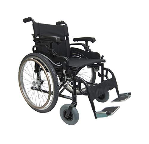 - Karman KM8520F22W Aluminum Lightweight Bariatric Manual Wheelchair, Fixed Wheels & Heavy-Duty Front Polyurethane Casters 22