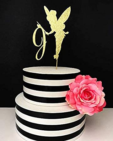 Fairy Kuchen Topper Mittelpunkt Tinkerbell KUCHEN Custom Initiale Tortenaufsatz Birthday Cake