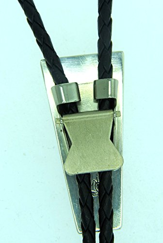 USA-made-by-Navajo-Artist-Wilbert-Grey-Sterling-silver-Bolo-Tie-inlaid-with-Spiney-oyster-and-synthetic-Turquoise