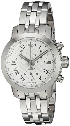 Tissot Women's Swiss Quartz Stainless Steel Quartz Watch, Color:Silver-Toned (Model: T0552171103300)