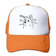 Adult Doge One Color Drawing Two-toned Running Caps Hat Black