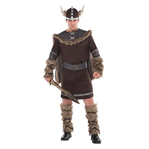 AMSCAN Viking Warrior Halloween Costume for Men, Plus Size, with Included Accessories -