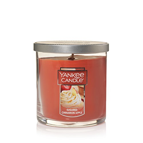 (Yankee Candle Small Tumbler Scented Candle, Sugared Cinnamon Apple)