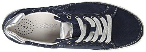 Gabor Amulette Large Fit Sneaker 5 C (m) Uk / 7 B (m) Nous Océan Daim / Argent