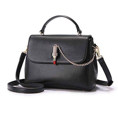 Sac à main Mode Messenger Bag Femmes Sac Petit Sac Petite Mode Fashion Lipstick Chaîne Décoratif Noir