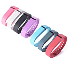 XCSOURCE Colorful Replacement Wristbands with Metal Clasps for Fitbit Flex