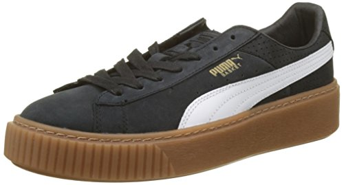 Black Basket Puma Puma gold Schwarz Gum Sneaker Perf Damen white Platform 8wrAq5wFa