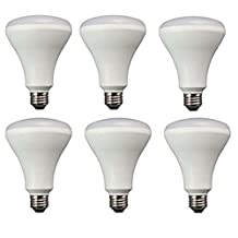 TCP 65 Watt Equivalent 6-pack LED BR30 Flood Light Bulbs, Non-Dimmable Soft White (2700K) LBR301027KND6
