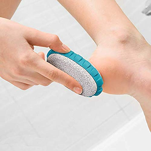 Aogo Oval Pumice Stone for Foot Callus Personal Care Exfoliation for Hands, Soles, Toes, Twosided