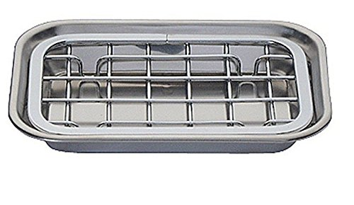 InterDesign Gia Kitchen Counter/Sink Soap Dish – Self Draining Soap Saver Design - Polished...