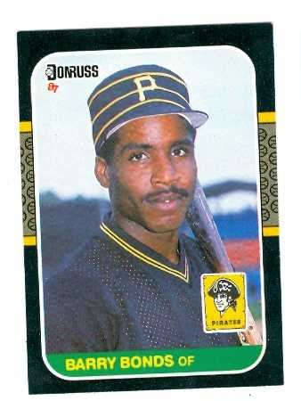 Barry Bonds baseball card (Pittsburgh Pirates) 1987 Donruss #361 Rookie Season