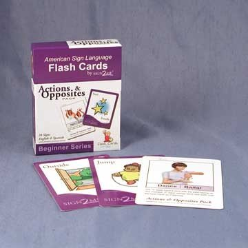 Harris Communications N263 Sign2Me ASL Flash Cards - Actions