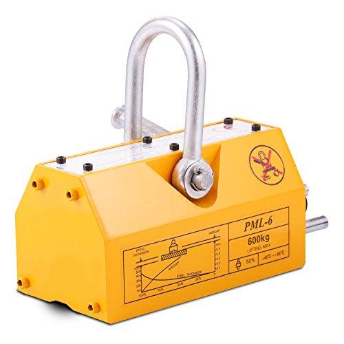 Geindus Magnetic Lifter 1320LB Permanent Magnetic Lifting Steel Neodymium Magnetic Lift Hoist N42-45
