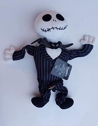 Tim Burton's 13 Inch The Nightmare Before Christmas 25 Years Jack Skellington Squeaky Dog Springy Toy]()