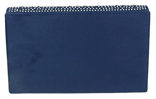 Bag Clutch Rhinestones Navy HandBags Girly 6zXFqxR7