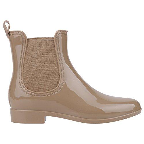 Japado - Botas de agua Mujer Marrón - caqui