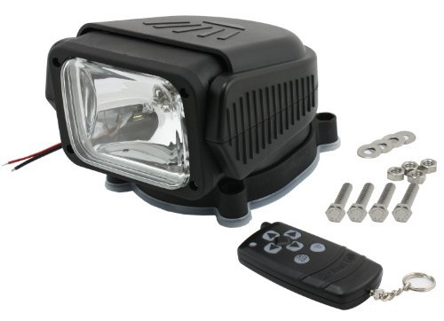55 Watt ! Motorized Spotlight, Searchlight with Waterproof Remote Control for Car, Boat,Home