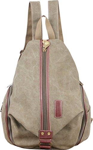 EuroSport Canvas Backpack Zipper Pockets Padded Straps Olive B702 (Eurosport Canvas Backpack)