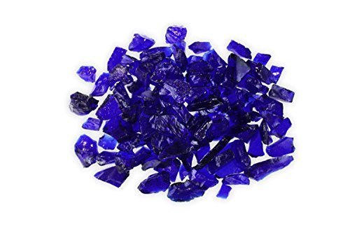 Firegear Broken Large Fire Glass (GL-Dark-Blue), 1/2-inch to 3/4-inch, Dark Blue, 5 pounds -