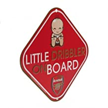 Baby on Board Sign - Arsenal F.C (Little Dribbler) by Footie Gifts