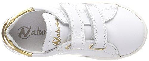 Naturino 5260 VL, Zapatillas Para Niñas Elfenbein (Bianco-Oro)