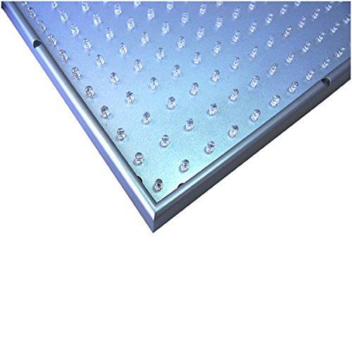 "HQRP New Square 12"" LED Grow Light System 225 Blue LED 14W + Hanging Kit + UV Meter"